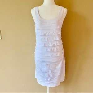 AGB size medium white ruffle summer dress